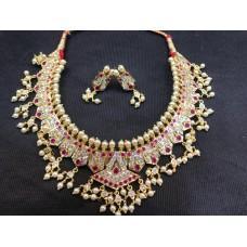 Pearl Necklace Chinchapeti Lappha of studded Marathi traditional