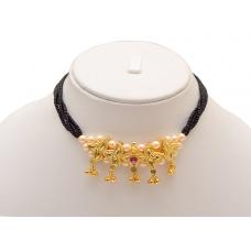 Belpan  a traditional Maharashtrian necklace cum Mangalsutra