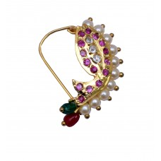 Nath Banu Traditional Maharashtrian / Marathi nose ring (piercing)