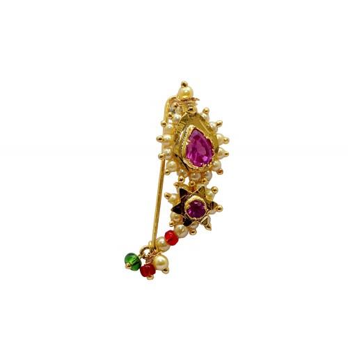 Bajirao Mastani Nath Traditional Maharashtrian Marathi Nose Ring