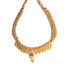 Thushi Maharashtrian Beads Necklace 916/22k hallmarked